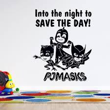 Pj Masks Superheroes Catboy Owlette Gekko Wall Decal 20 X 26 Removable 3d Animation Cartoon