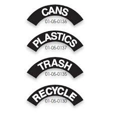 Ultraplay Trash Decal Labels 01 05 013x Trash Cans Recycling Containers Worthington Direct