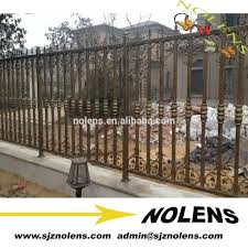 2016 New Latest Cheap Wrought Iron Fence Panels Decorative Galvanized Steel Fence Antique Metal Fence Design For Sale Buy Used Wrought Iron Fencing Wrought Iron Fence Designs Cheap Wrought Iron Fence