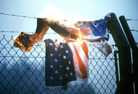 An American Flag Is Burned On The Perimeter Fence By Protesters Demonstrating Against Nato S Decision To Deploy Pershing Ii And Cruise Missiles In Western Europe U S National Archives Public Domain Image