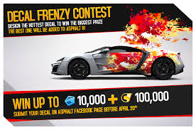 Gameloft On Twitter Design A Car Decal Win Up To 10 000 Tokens 100 000 Credits Your Desing Could Be Added To Asphalt8 Decalfrenzy Http T Co 1oxx4jmyyc