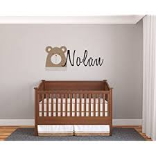 Amazon Com Personalized Name Bear Prime Series Baby Boy Nursery Wall Decal For Baby Room Decorations Mural Wall Decal Sticker For Home Children S Bedroom Mm96 Wide 22 X10 Height Baby