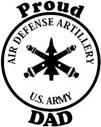 Us Army Air Defense Artillery Proud Dad Car Or Truck Window Decal Sticker Rad Dezigns