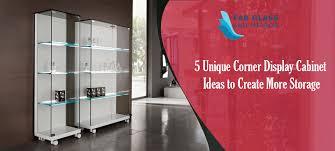 5 unique corner display cabinet ideas