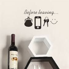 Before Leaving Quote Removable Vinyl Decal Art Mural Diy Home Decor Wall Sticker Ebay