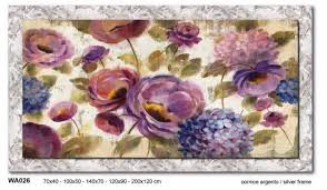 wall art colored flowers 70x40 canvas