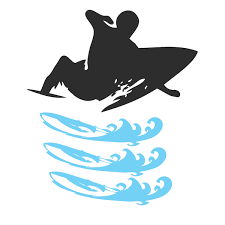 Surfer Wall Decal With Waves Trendy Wall Designs