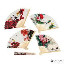 Oriental Folding Hand Fan Assortment Oriental Trading