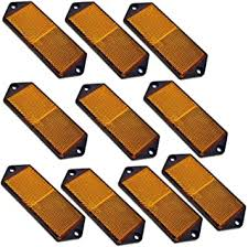 Ab Tools Amber Large Rectangular Side Reflector Pack Of 10 Trailer Fence Gate Post Tr067 Amazon Com