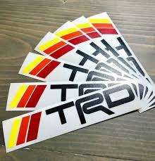 Trd Heritage Stripes Decal 5 5 Sticker Toyota 4runner Tacoma Retro T4r Vinyl