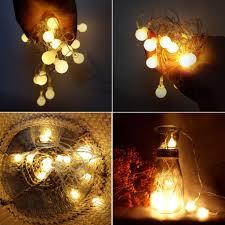 Đèn led dây trang trí tiệc bóng tròn 3m 18 bóng đèn không chớp nháy cắm  điện( cherry nhỏ)