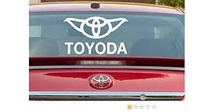 Amazon Com Toyoda Joda Sticker Vinyl Decal Window For Toyota Star Wars Handmade