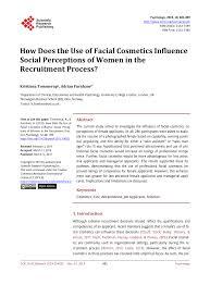 cosmetics influence social