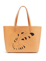 x calder large leather tote bag