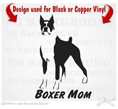 Boxer Dog Stickers Decal Nickerstickers