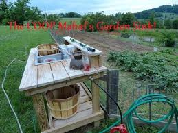 vegetable washing station with images