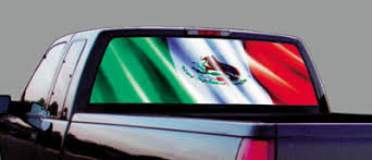 Click Image Above To Buy Mexican Flag Rear Window Decal Rear Window Decals Rear Window American Flag