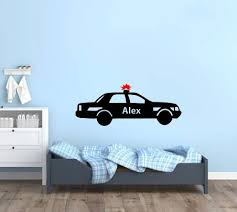 Police Car Wall Decal Boys Room Wall Stickers Whimsidecals