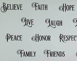 Wall Word Decals Etsy