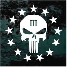 3 Percenter Stars Skull Decals Stickers Decal Junky