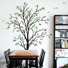 Tree With Birds Wall Stickers Tree Vinyl Wall Decal Kids Baby Room Wall Tattoo Living Room Home Decoration Fine Wallpaper Ll2252 Wall Stickers Aliexpress