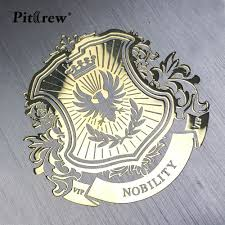 Pitrew Nickel Metal Car Stickers Vip Lion Emblem Decal For Car Styling Laptop Sticker Stationery Sticker Automobile Laptop Stickers Car Decals Car Accessories