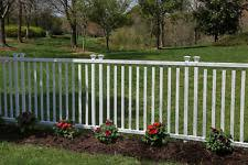 Zippity Outdoor Products Zp19037 Baskenridge Semi Permanent Vinyl Fence White For Sale Online
