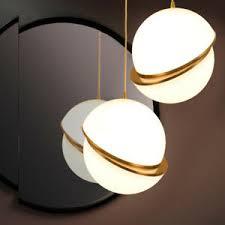 globe shade led brass ceiling pendant