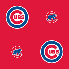 chicago cubs logo pattern red