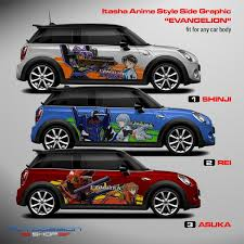 Anime Manga Video Game Graphic Decals For Any Car Model