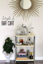 bar carts celebrations at home