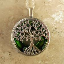 tree of life necklace green wiccan
