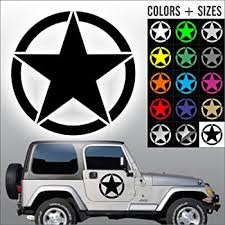 Amazon Com Army Star Decal Military Car Decal Sticker Sizes And Colors Die Cut No Background 16 Black Automotive