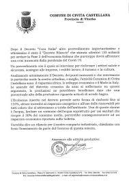 Decreto Rilancio, cosa comporta per Civita Castellana