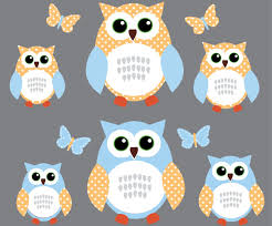 Amazon Com Green And Blue Owl Wall Decal Boy Owl Stickers Baby