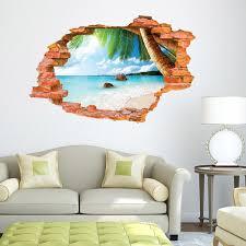 3d Beach Wall Stickers Sunrise Sunset Landscape Wallpaper