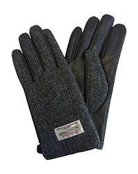harris tweed leather gloves lb3002