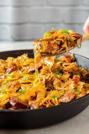 cheesy smoked sausage pasta recipe