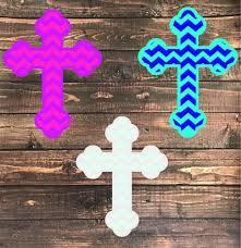 Yeti Tumbler Cross Decalcross Decalchevoron Crossfancy Etsy