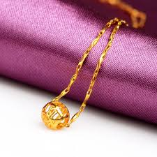 999 gold necklace pendants golden blond