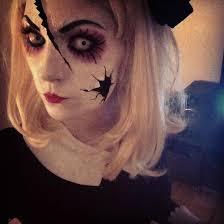 easy creepy doll makeup saubhaya makeup