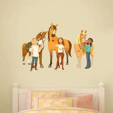 Amazon Com Spirit Riding Free Wall Sticker Group Wall Decal Mural Vinyl Kids Bedroom Art 60cm Width X 40cm Height Baby
