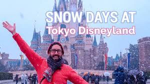 snow at tokyo disneyland what to