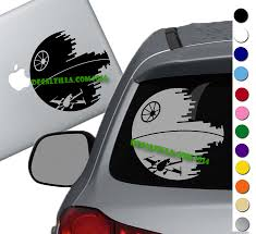 Star Wars Deathstar And X Wing Decal Sticker