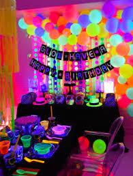 diy black light party ideas easy