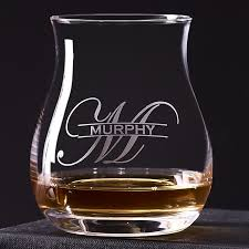 personalized glencairn wide bowl whisky