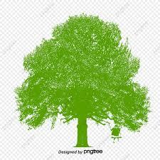 رسم كاريكتوري حلوة شجرة الخريف أرجوحة رسوم متحركة مرسومة
