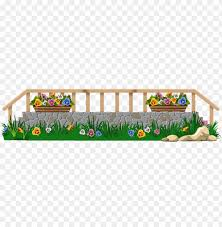 Download Fence With Grass And Flowers Png Clipar Clipart Png Photo Toppng