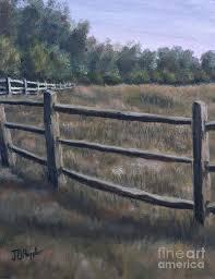 Split Rail Fence Painting By J O Huppler