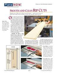 Table Saw Rip Cuts Gerald Eberhardt Bz